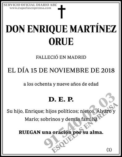 Enrique Martínez Orue